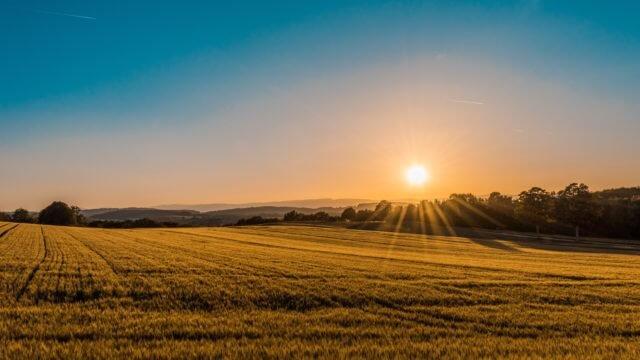 大自然と朝日