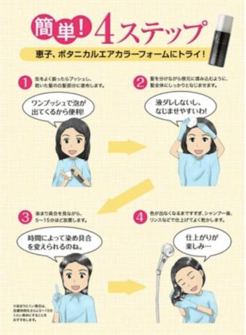 使い方の4つの手順の説明