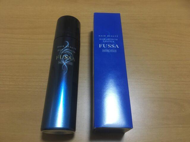 fussa(フッサ)商品の箱とスプレー