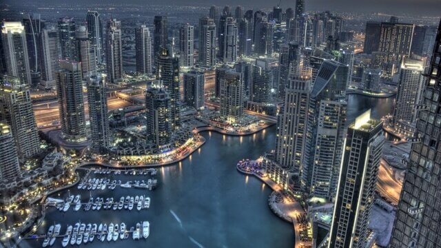 大都会の綺麗な夜景